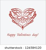 valentines day card with... | Shutterstock .eps vector #126584120