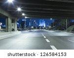 empty freeway at night   Shutterstock . vector #126584153