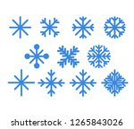 set of blue snowflakes... | Shutterstock .eps vector #1265843026