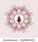 red rosette or money style... | Shutterstock .eps vector #1265849623