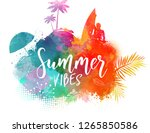 handwritten calligraphy text ... | Shutterstock .eps vector #1265850586