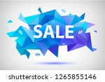 raster copy sale faceted... | Shutterstock . vector #1265855146