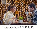 romantic evening date in...   Shutterstock . vector #126585650