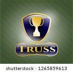 golden emblem or badge with...   Shutterstock .eps vector #1265859613