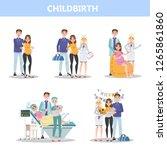 preparing for hospital before... | Shutterstock .eps vector #1265861860