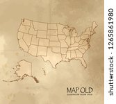old usa map with vintage paper...   Shutterstock .eps vector #1265861980