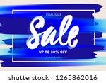 sale banner template  midseason ... | Shutterstock .eps vector #1265862016