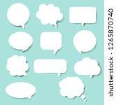 speech bubble set blue...   Shutterstock .eps vector #1265870740
