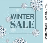 winter sale poster with... | Shutterstock .eps vector #1265870743