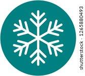 snowflake icon simple vector...