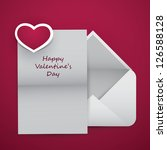 valentine's day card | Shutterstock .eps vector #126588128