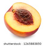 peach slice. fruits isolated on ... | Shutterstock . vector #1265883850