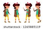 asian girl set vector. high... | Shutterstock .eps vector #1265885119
