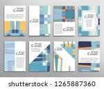 set of a4 cover  abstract... | Shutterstock .eps vector #1265887360