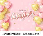 happy saint valentines day... | Shutterstock .eps vector #1265887546