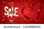 valentines day sale design with ... | Shutterstock .eps vector #1265888020