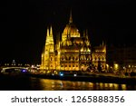 hungarian parliament in the... | Shutterstock . vector #1265888356