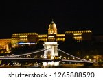 buda palace and chain bridge in ... | Shutterstock . vector #1265888590