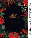 christmas postcard template... | Shutterstock .eps vector #1265889166