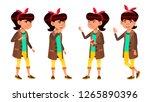asian girl set. high school... | Shutterstock . vector #1265890396