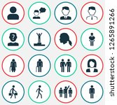 person icons set with employee  ... | Shutterstock .eps vector #1265891266