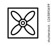fan icon on white background.... | Shutterstock .eps vector #1265893699