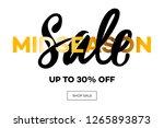 sale banner template  midseason ... | Shutterstock .eps vector #1265893873