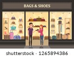 bags and shoes shop with... | Shutterstock .eps vector #1265894386