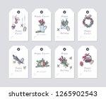 vector linear design happy... | Shutterstock .eps vector #1265902543