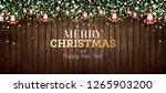 fir branch with neon lights ... | Shutterstock . vector #1265903200