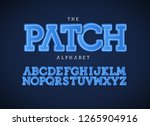 patch letters set. bold... | Shutterstock .eps vector #1265904916
