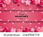 happy saint valentine's day... | Shutterstock .eps vector #1265906719