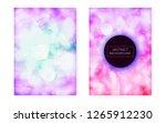 bauhaus cover set with liquid... | Shutterstock .eps vector #1265912230