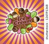ice cream burst jpg | Shutterstock . vector #126591368