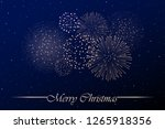 firework show on blue night sky ... | Shutterstock . vector #1265918356