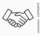outline shake hand pixel... | Shutterstock .eps vector #1265928970