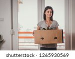 moving into new apartment .... | Shutterstock . vector #1265930569