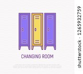 changing room with lockers thin ...   Shutterstock .eps vector #1265932759