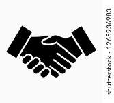 glyph shake hand pixel perfect... | Shutterstock .eps vector #1265936983