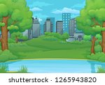 summer  spring day vector... | Shutterstock .eps vector #1265943820