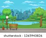 summer  spring day park vector...   Shutterstock .eps vector #1265943826