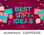 valentines day sale banner ... | Shutterstock .eps vector #1265953243