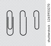 paper clip icon vector... | Shutterstock .eps vector #1265953270