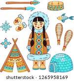 eskimo polar north symbols... | Shutterstock .eps vector #1265958169