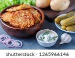 homemade traditional fried...   Shutterstock . vector #1265966146
