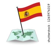 map with flag of spain isolated ... | Shutterstock .eps vector #1265976319