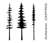 tree silhouette pine vector set ... | Shutterstock .eps vector #1265979010