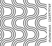 design seamless monochrome...   Shutterstock .eps vector #1265979769