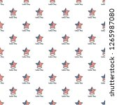 american star labor day pattern ... | Shutterstock .eps vector #1265987080