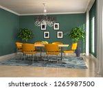 interior dining area. 3d... | Shutterstock . vector #1265987500